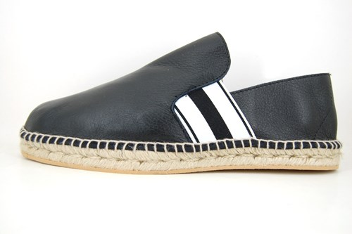 Mens leather espadrilles - black