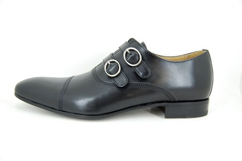 Double buckle mens shoes