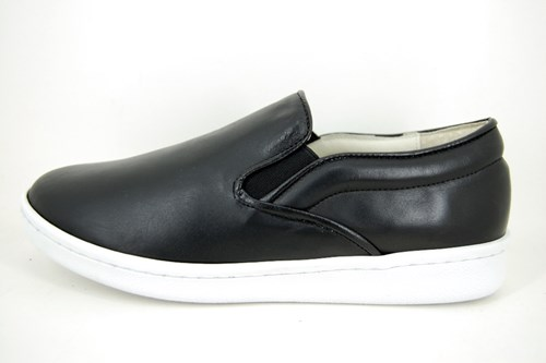 Stravers slip-on sneakers mens - black leather