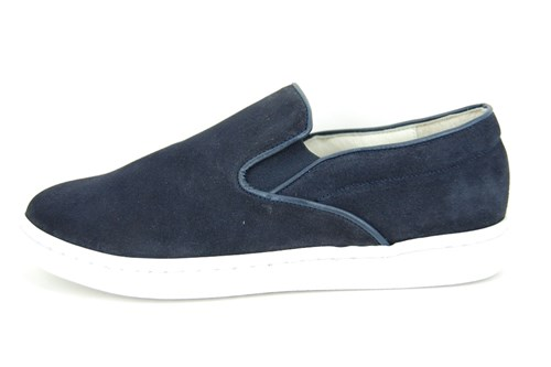Stravers slip-on sneakers mens - blue suede
