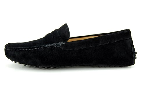 Mens suede mocassins - black