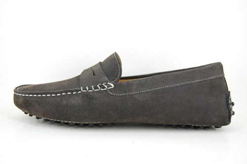 Mens suede mocassins - grey