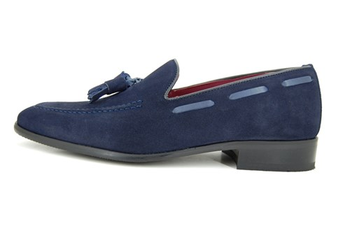 Tassel loafers - dark blue