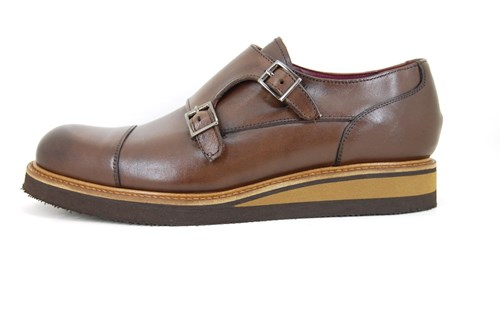 Sturdy dressed buckle shoes - brown