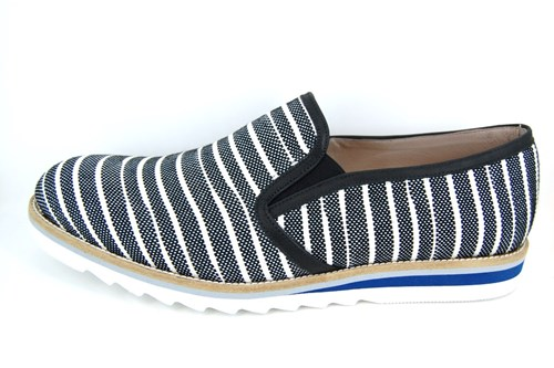 Summer mens loafers - black white