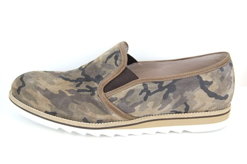 Casual mens loafers - camouflage