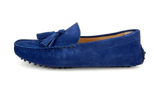 Original Mocassins with Tassels - blue suede