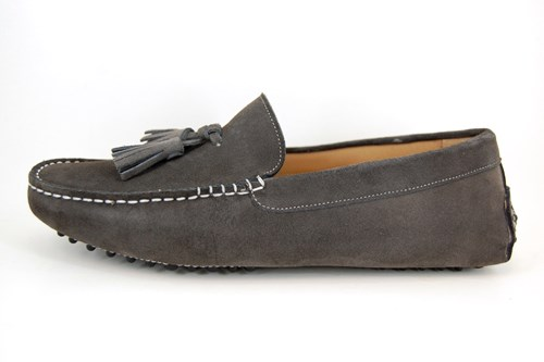 Original Mocassins with Tassels - grey suede