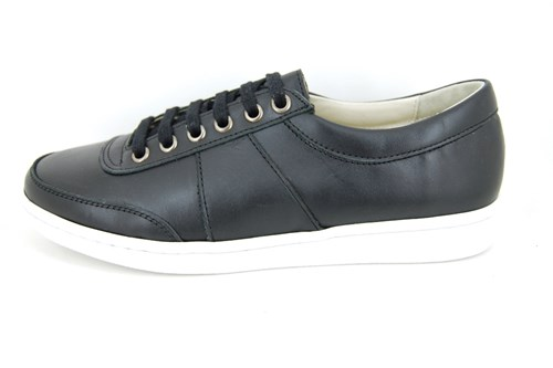 Stravers sneakers mens - black leather