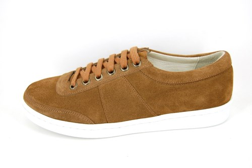 Stravers sneakers mens - cognac brown suede