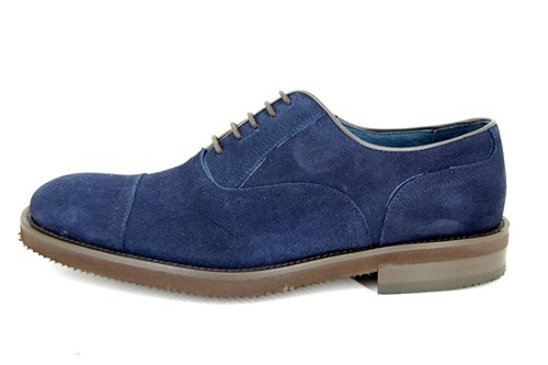 Blue suede light shoes