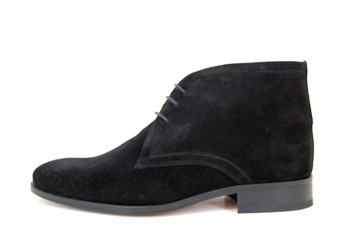 Dressed Half High Men's Shoes - black suede