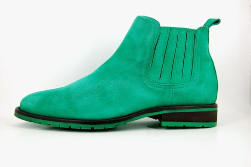 Green Chelsea mens boots