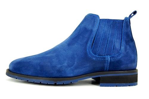 Blue men's Chelsea boots   Stravers Shoes