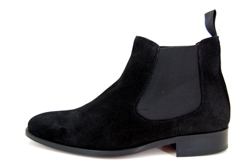 Stylish Chelsea Boots men - black suede