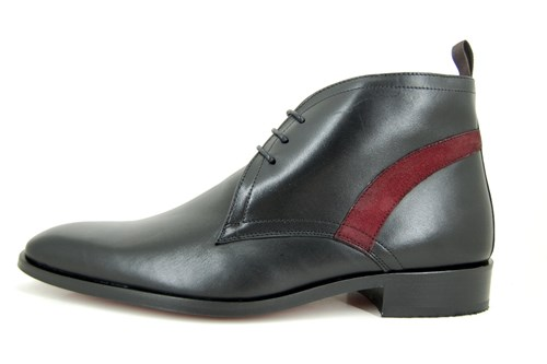Exclusive black halfhigh mens shoes