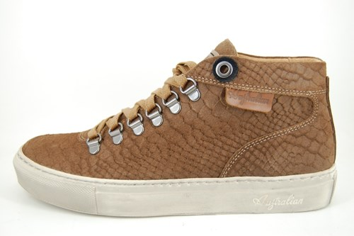 Brown snake mens sneakers