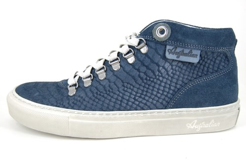 Blue snake mens sneakers