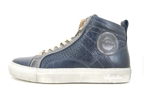 High top mens sneakers - blue