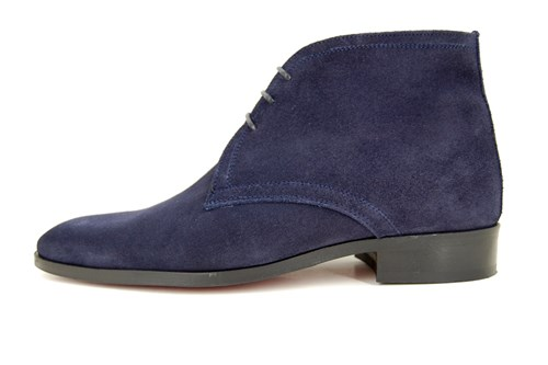Mens blue ankle boots
