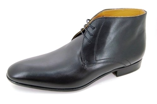 Plain black mens ankleboots
