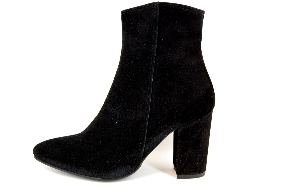 Pointed Ankle Boots Black | Large Size