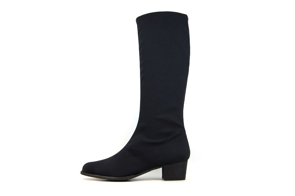 Stretch Boots Long with Low Heels