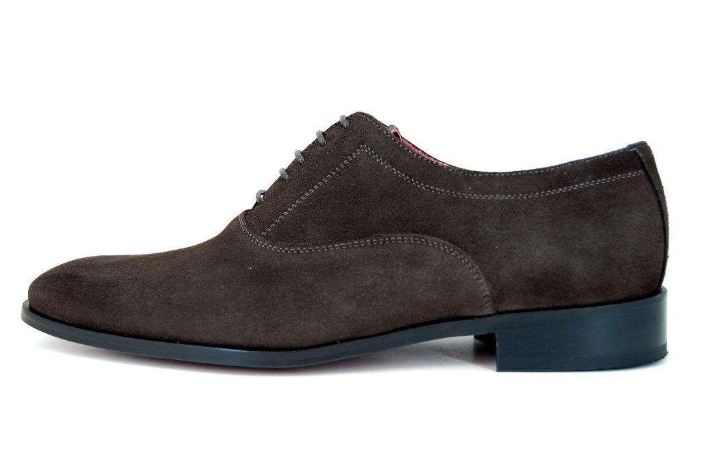 Stylish brown suede men's shoes